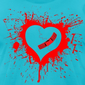 Broken Hearted Again - Men's T-Shirt by American Apparel