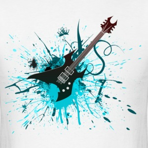 Electric Guitar Graffiti - Men's T-Shirt