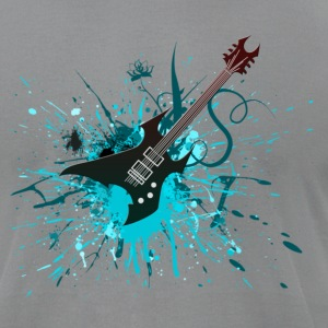 Electric Guitar Graffiti - Men's T-Shirt by American Apparel