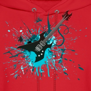 Electric Guitar Graffiti - Men's Hoodie