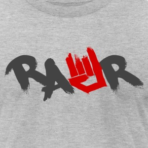 Rawr Logo - Men's T-Shirt by American Apparel