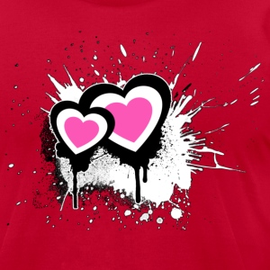 Exploding Hearts Graffiti - Men's T-Shirt by American Apparel
