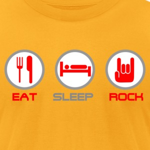 Eat Sleep Rock - Men's T-Shirt by American Apparel