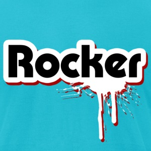 Rocker Graffiti - Men's T-Shirt by American Apparel