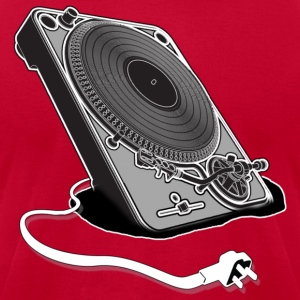 Turntable Plug - Men's T-Shirt by American Apparel