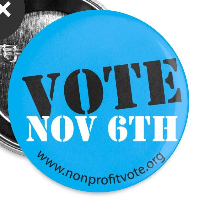 Vote November 6 Button - Blue
