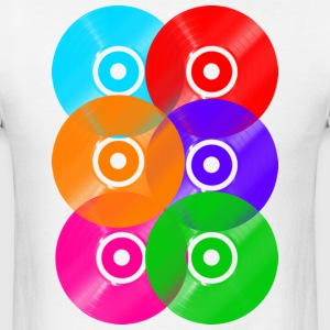 Vinyl Colours DJ T-Shirts - Men's T-Shirt
