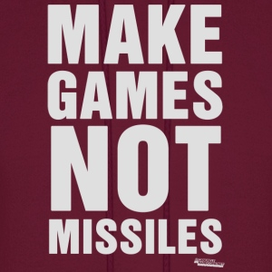 Make Games Not Missiles Hoodies - Men's Hoodie