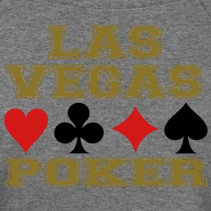 Las Vegas poker cards Long Sleeve Shirts - Women's Wideneck Sweatshirt