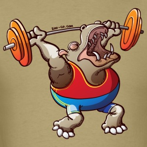 Olympic Weightlifting Hippopotamus T-Shirts - Men's T-Shirt