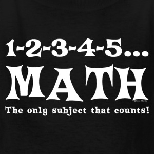 White Math Counts  Kids' Shirts - Kids' T-Shirt