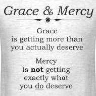 Design ~ Grace & Mercy blk letters - Men