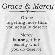 Design ~ Grace & Mercy blk letters - Men