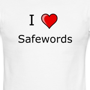 I LOVE SAFEWORDS SHIRT KINKY SEX - Men's Ringer T-Shirt