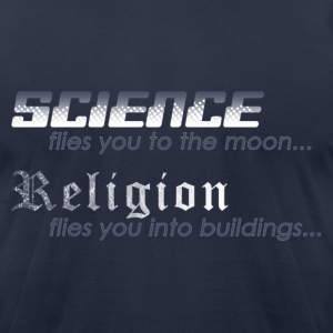 Science vs. Religion 2 T-Shirts - Men's T-Shirt by American Apparel