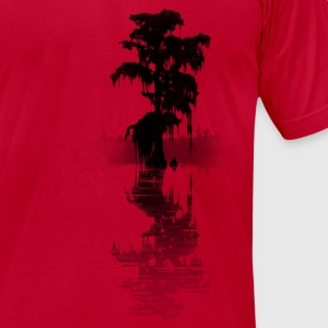 bayou tree - Men's T-Shirt by American Apparel