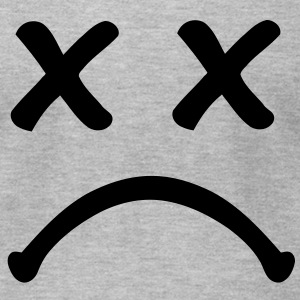 Smiley sad T-Shirts - Men's T-Shirt by American Apparel