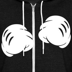 MICKEY FISTS Zip Hoodies/Jackets - Unisex Fleece Zip Hoodie by American Apparel