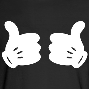 MICKEY HANDS THUMBS UP Long Sleeve Shirts - Men's Long Sleeve T-Shirt