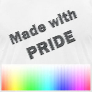 Made With Pride - Men's T-Shirt by American Apparel