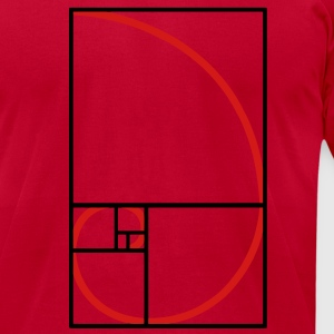 fibonacci curve, golden section T-Shirts - Men's T-Shirt by American Apparel