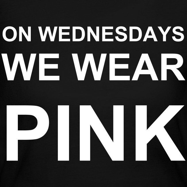 """On Wednesdays We Wear Pink"" Mean Girls Long Sleeved T"