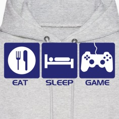 Eat Sleep Game Hoodies