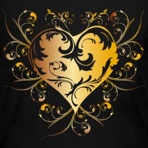 heart - yellow Long Sleeve Shirts - Women's Long Sleeve Jersey T-Shirt