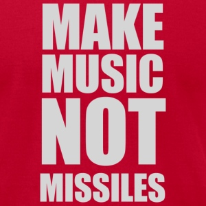Make Music Not Missiles - Men's T-Shirt by American Apparel