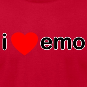 I Love Emo - Men's T-Shirt by American Apparel