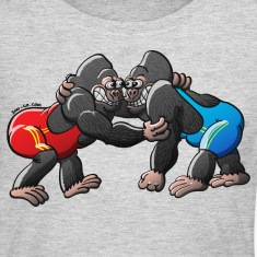 Olympic Wrestling Gorillas Long Sleeve Shirts