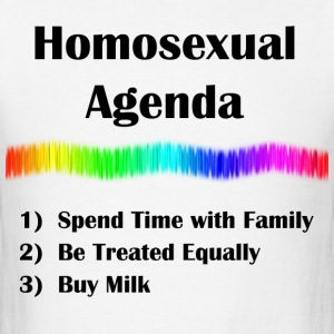 Homosexual Agenda - Men's T-Shirt