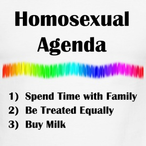 Homosexual Agenda - Men's Ringer T-Shirt