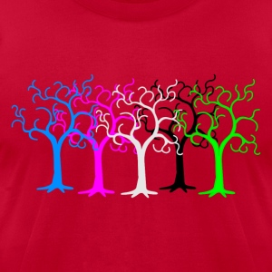 colored forest - digital T-Shirts - Men's T-Shirt by American Apparel