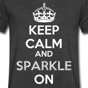 Keep Calm and Sparkle On - Sparkle Pattern Filling T-Shirts - Men's V-Neck T-Shirt by Canvas