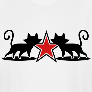 military army cats with 5 point star T-Shirts - Men's Tall T-Shirt