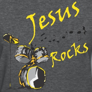 Jesus Rocks w/drum Women's T-Shirts - Women's T-Shirt