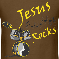 Design ~ Jesus Rocks w/drum - Men
