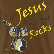 Design ~ Jesus Rocks w/drum - Men
