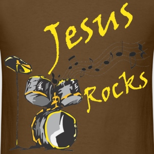 Jesus Rocks w/drum T-Shirts - Men's T-Shirt