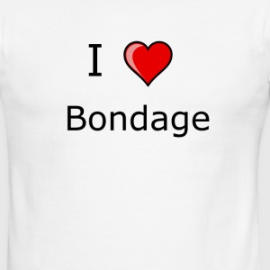 I LOVE bondage shirt kinky sexy - Men's Ringer T-Shirt
