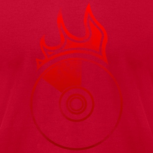 Flaming Vinyl - Men's T-Shirt by American Apparel