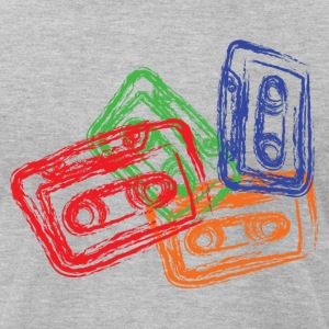 Mix Tapes - Men's T-Shirt by American Apparel