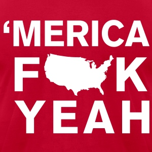 Merica Fk Yeah T-Shirts - Men's T-Shirt by American Apparel