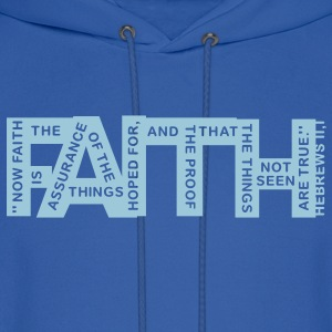 faith hebrews 11-1 - 1col Hoodies - Men's Hoodie