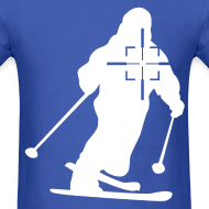 Design ~ Skier in Crosshairs Mens Tee