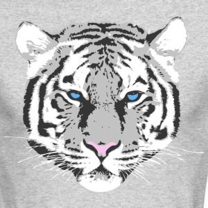white tiger blue eye Long Sleeve Shirts - Men's Long Sleeve T-Shirt by Next Level