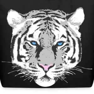 white tiger blue eye Bags  - Eco-Friendly Cotton Tote