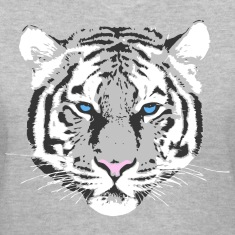 white tiger blue eye Women's T-Shirts