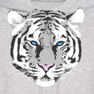 white tiger blue eye Hoodies - Men's Hoodie